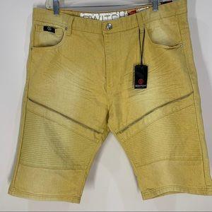 NWT Switch Remarkable Mustard Denim Shorts